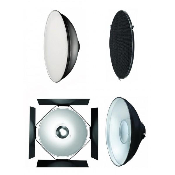 Набор рефлектор+соты+beauty dish Mircopro 505