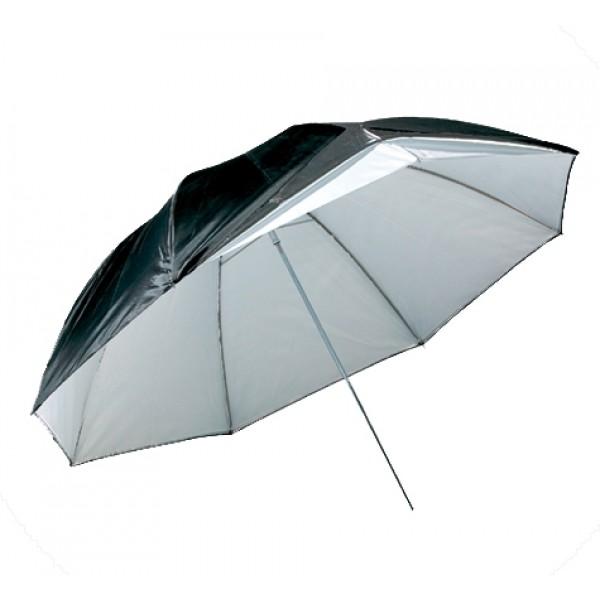 Зонт Mircopro UB-007 85см (черный/серебристый/полупрозрачный)