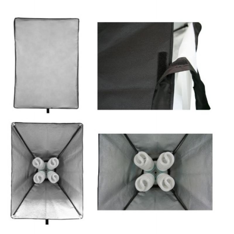 Комплект Постоянный флуорисцентный свет (софтбокс 60*60см 4лампы *40W)