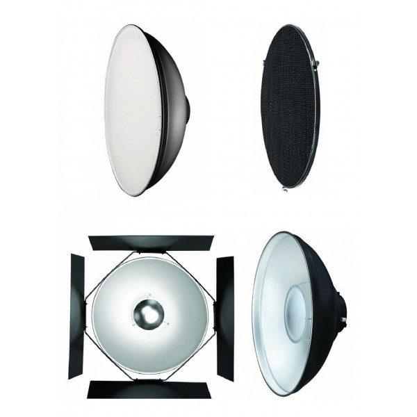Набор рефлектор+соты+beauty dish Mircopro 550