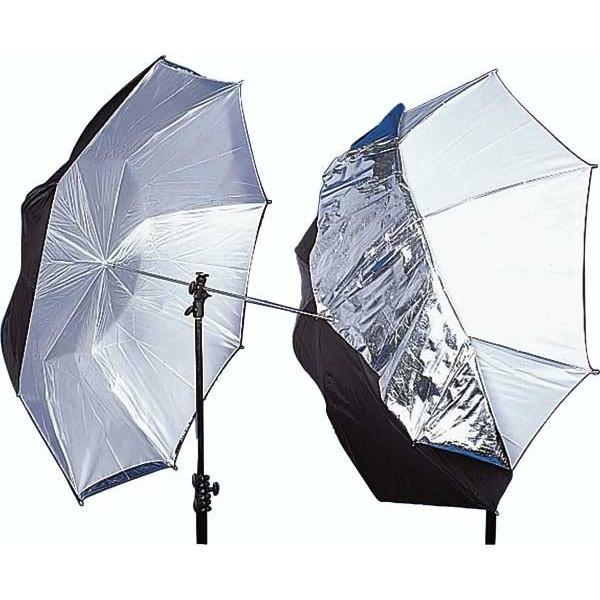Зонт Mircopro UB-007 100см (черный/серебристый/полупрозрачный)